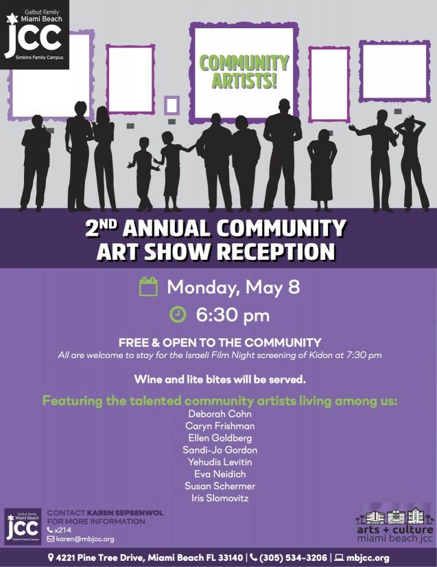 MBJCC art show reception flyer